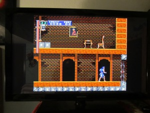 That's Rondo of Blood on my formerly large tv. By modern standards, I think it's probably small. Damn.